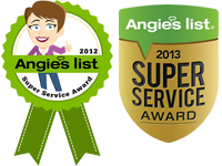 Angie's List 2012 & 2013 Award