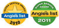 Angie's List 2010 & 2011 Award